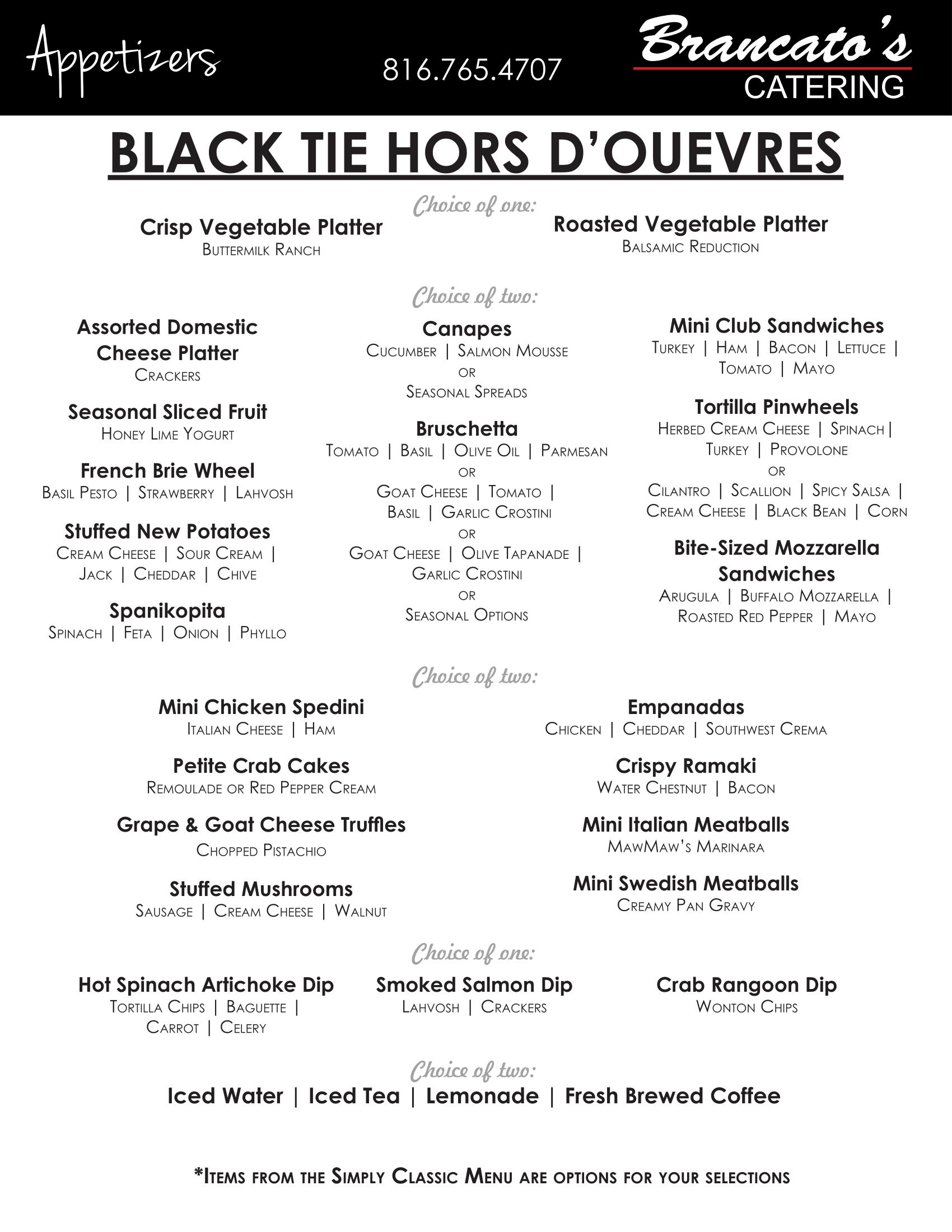 Black Tie Hors' D-1