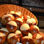 Don't these soft pretzel rolls look like baseballs coming out of a mitt?! Perfect for the baseball theme of the event.