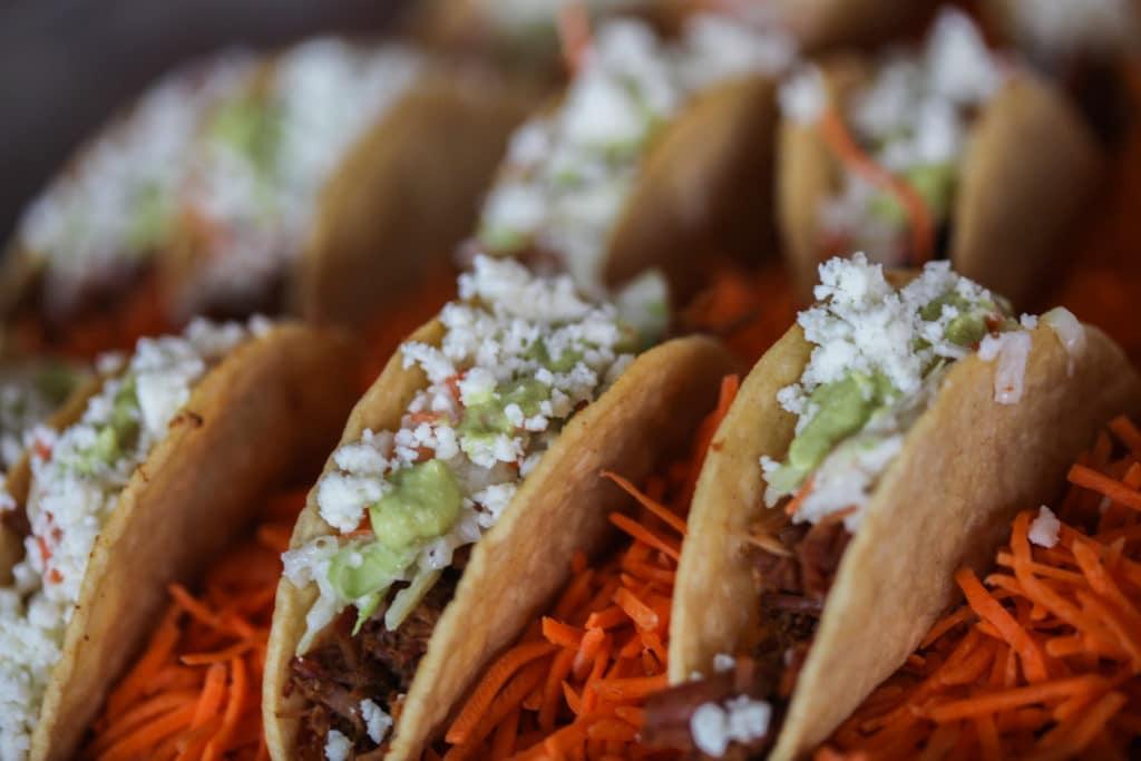 mini beef barbacoa tacos